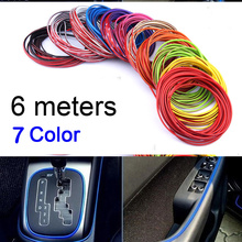 Buy HUANLISUN 6meters multicolor 3M car decoration thread sticker Interior trim strip Body Modify Decal Auto Car Stickers Decoration for $2.99 in AliExpress store
