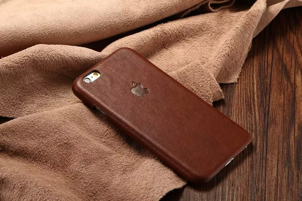 Classic Business Man Leather Case For iPhone 6S Cover With Logo