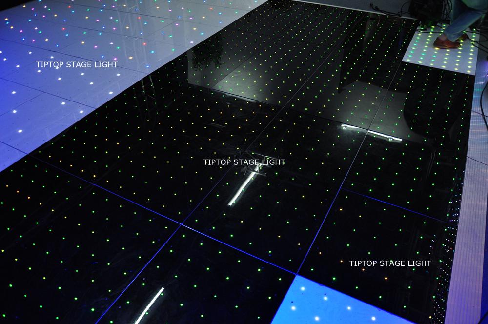 TIPTOP TP-E26 Stage 120cm x 60cm LED Digital Dance Floor Bearing 800kg Panel 72pcs RGB 3IN1 SMD 5050 Lamps Aluminum Edge Option