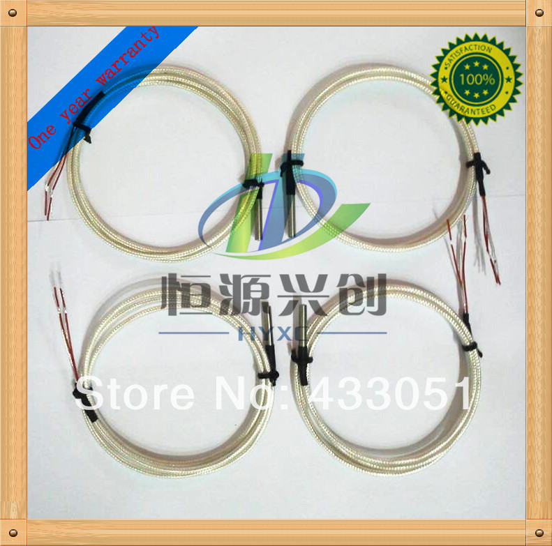 5pcs PT100 temperature sensor Accuracy 0.1 Corrosion-resistant High accuracy 1 m wire(China (Mainland))