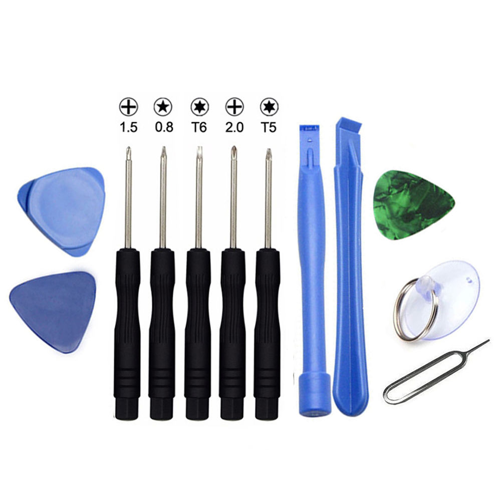 12Pcs Slotted 2.0 Phillips 1.5 Torx T5 T6 Five star 0.8 Screwdriver Opening Pry Tool for iPhone Samsung PDA PC Repair