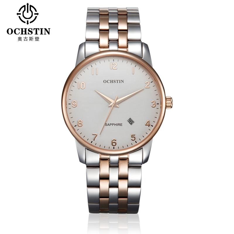 2016NEW Mens quality watches OCHSTIN gentry  men stainless steel Sapphire calendar men quartz watch relogios masculinos de luxo