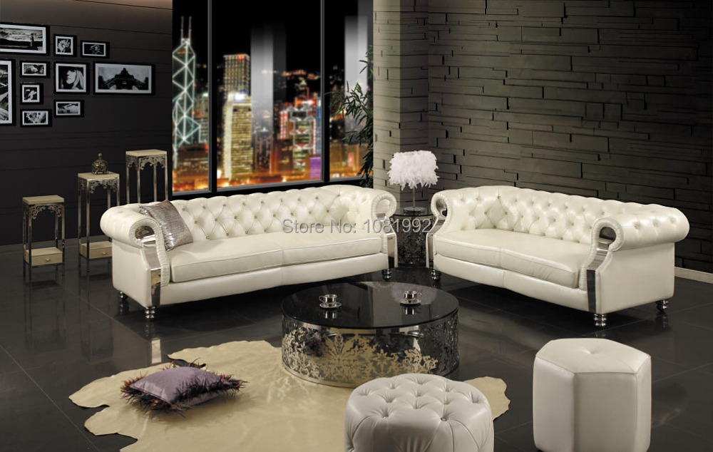 High end european leather sofa new classical solid wood for Sitting furniture living room