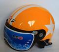 Free shipping LSG motorcycle helmet half helmet motorcycle helmet summer helmet portable orange