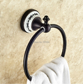 Free Shipping Wholesale and Retail Wall Mounted Brass Bathroom Towel Ring Oil Rubbed Bronze Finished Bath