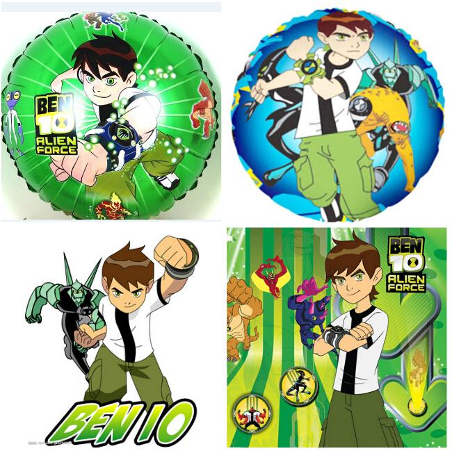 ( 100 peças/lote ) balon ben 10 balões folha de hélio balão de festa decoração ben dez dos desenhos animados ben 10 brinquedos balão 18 polegada(China (Mainland))