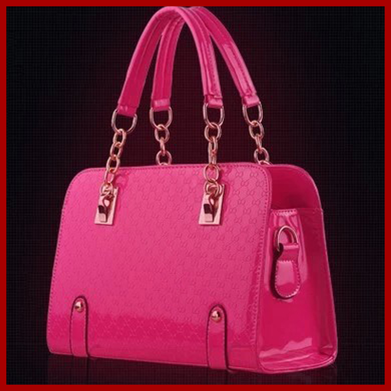 2015 women patent leather handbags crocodile grain tote crossbody bolsas messenger bags clutch best gift evening bag A2122(China (Mainland))