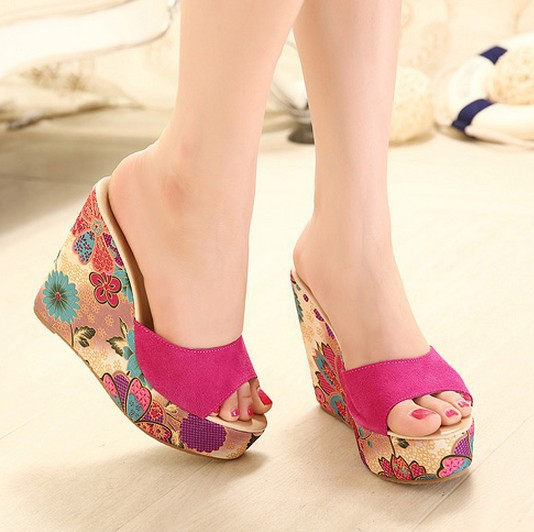 2015 Summer Beach flip flops women Slippers Platform Sandals Women's Wedges Shoes Women Flip-Flops - Milang store