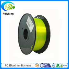 Yellow 3D Printer Filament For MakerBot RepRap UP Mendel 1.75mm 3mm 1KG PC Polycarbonate 3DPrinter Filament Consumables Material
