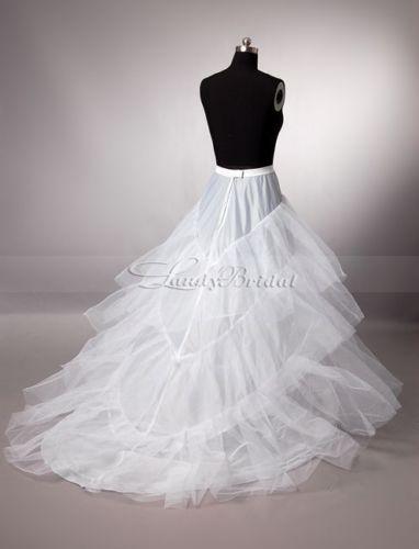 Free shipping hot sale Trail Petticoat White Wedding Dress Petticoat Underskirt Skirt To Match Dress(China (Mainland))