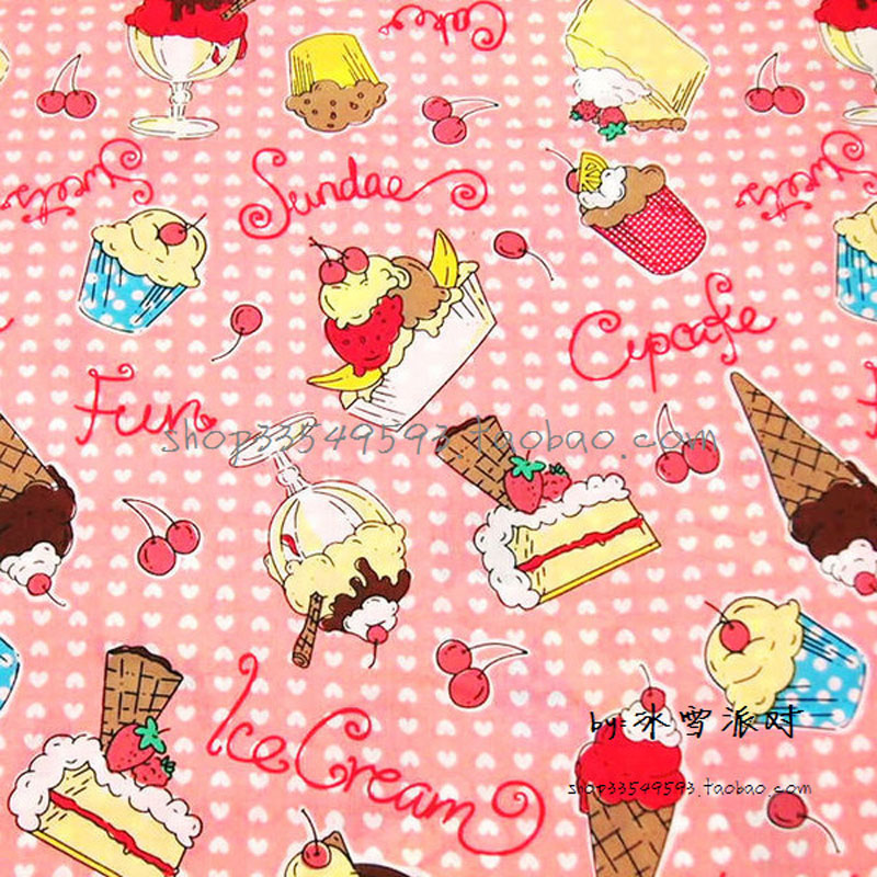 Icing On Fabric: 140cm*50cm 1pcs Cake Fabric 100%Cotton Fabric Telas