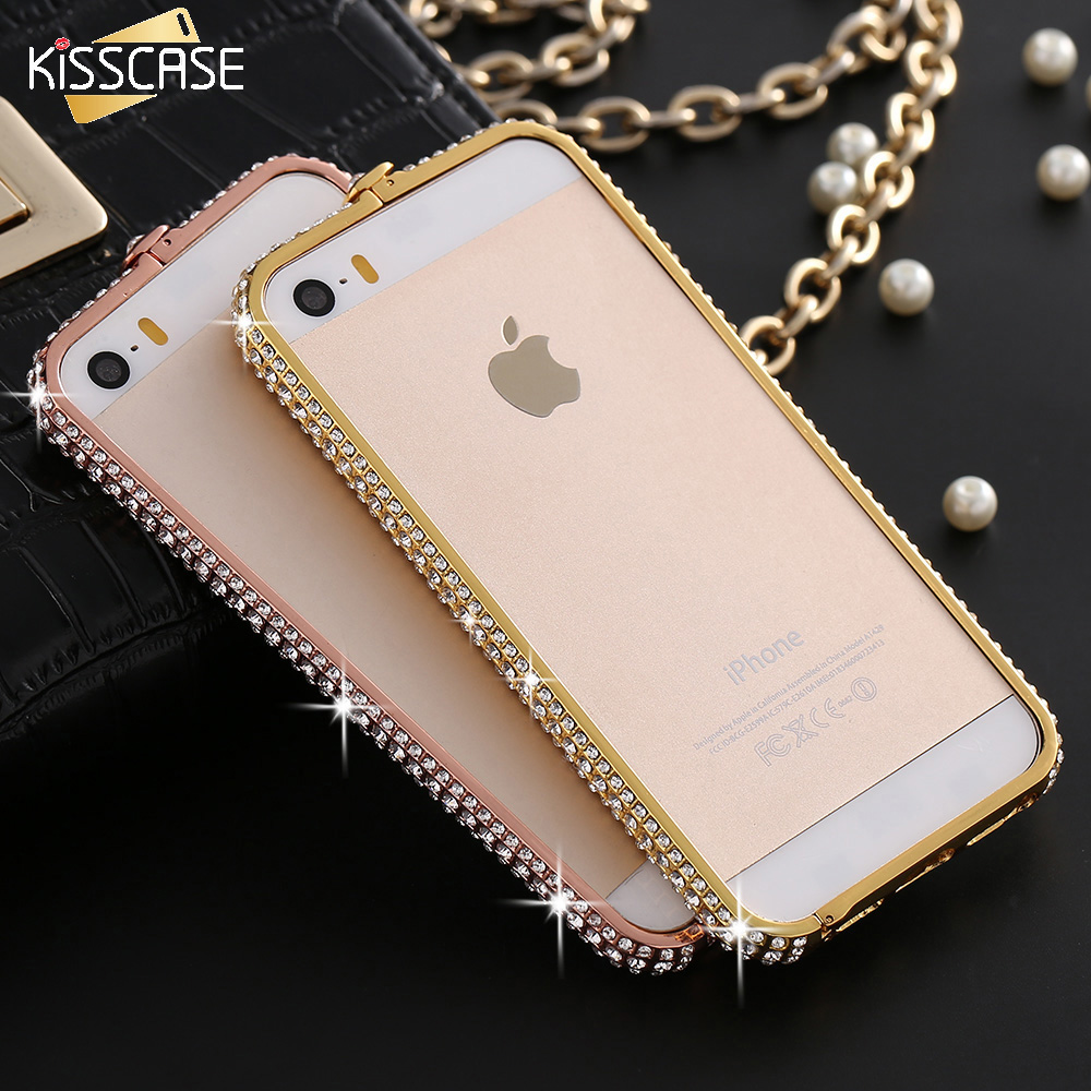 KISSCASE iphone 5S SE Capa Luxury Bling Rhinestone Crystal Case Apple iPhone 5 5S SE Mobile Phone Accessories Case
