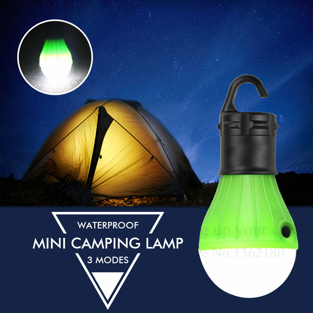 New 3LEDs Camping Hiking Light Bulb Portable Lantern Light Outdoor Battery Powered Hanging Lamp For Camping Tent Fishing(China (Mainland))