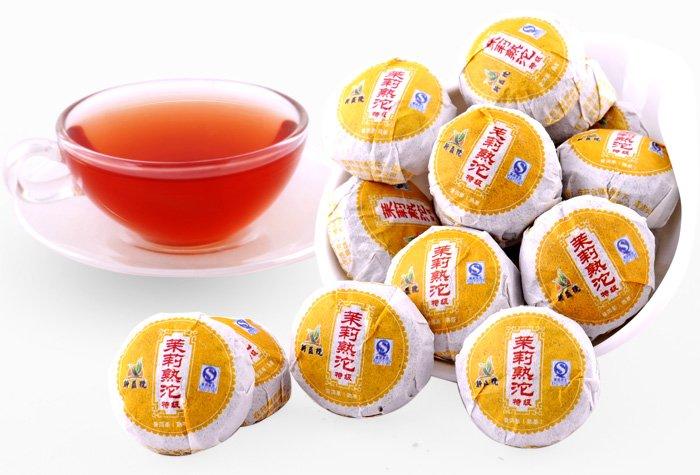 20pcs Jasmine puerh tea Ripe Pu er tuo cha PT16 Free Shipping