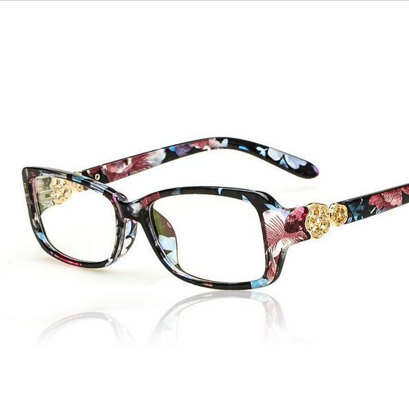brand design diamond eyeglass eyewear frames eye glasses frames for women computer plain mirror spectacle frame ladies eyeglass