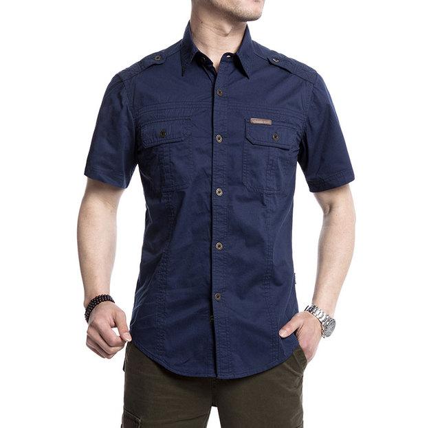 Большой размер XXXXXL лето мужская 100% хлопковые рубашки сплошной цвет фитнес короткий ...