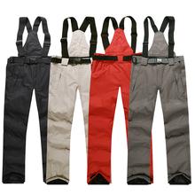 Бесплатная доставка открытый ветрозащитный сноуборд брюки мужчин или женщин снег брюки брюки водонепроницаемый ветрозащитный теплые дышащие лыжные штаны