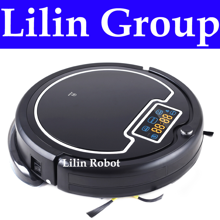 Robot Vacuum Cleaner,with Water Tank, Wet and Dry Mop,2 Brush,TouchScreen,with Tone,HEPA,Schedule,VirtualWall,SelfCharge,UV Lamp(China (Mainland))