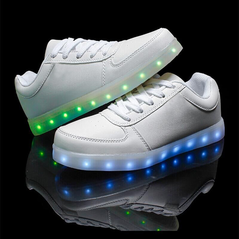 HOT! Led Shoes For Men Fashion Light Up Casual Shoes For Adults 7 Colors Outdoor Glowing Women/men Plus Size35-44 zapatos mujer