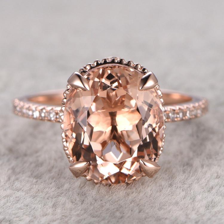 Popular Morganite Engagement Ring Buy Cheap Morganite Engagement Ring lots fr