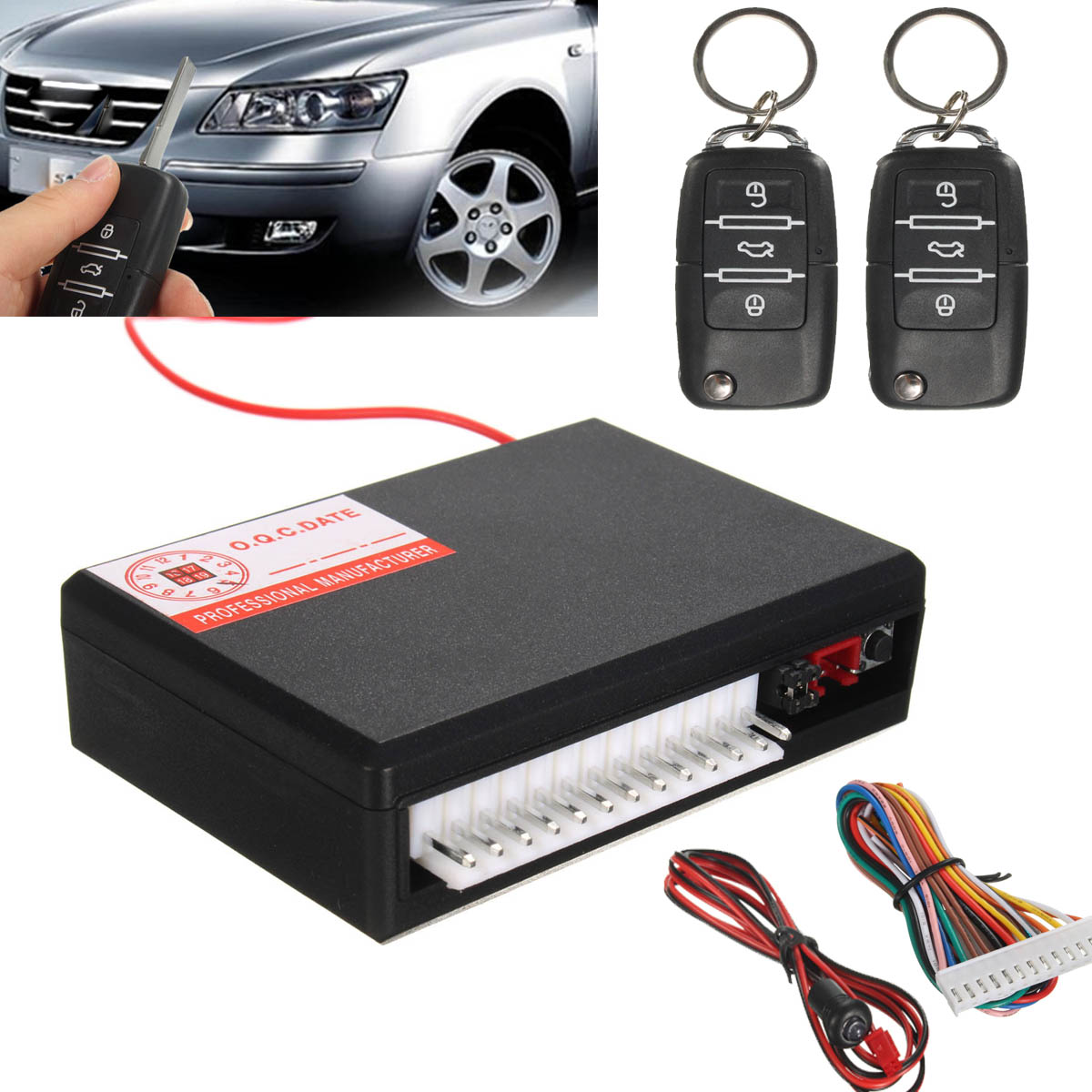 New Universal Car Vehicle Remote Control Central Kit Door Lock Locking Keyless Entry Theft System(China (Mainland))