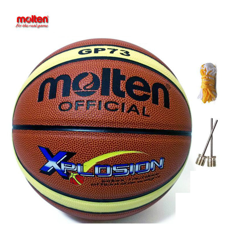 NEW Brand Genuine Ray Allen Official Molten Basketball GP73 Size7 Molten PU Material Basketball Free with Net Bag and Pin(China (Mainland))