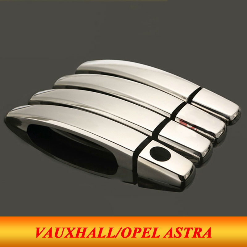 8pcs Set 2014 Vauxhall Opel Astra J Abs Chrome Car Door Handles Cover Exterior Door Handle