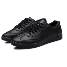 New 2016 Men And Women Summer Breathable Leather Shoes Wear Casual Fashion Shoes Comfortable Black Men's Shoes Flat shoes