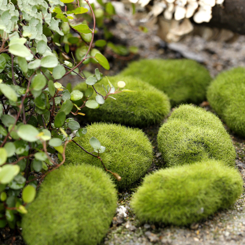 3pcs/pack Green Foam Moss Stone Fake Rock Micro Landscape Decorative Accessories Ornaments Christmas Home Garden Decoration(China (Mainland))