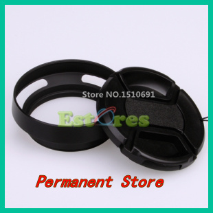 Free Shipping 49mm Metal Lens Hood + 58mm Lens cap For Olympus Panasonic<br><br>Aliexpress
