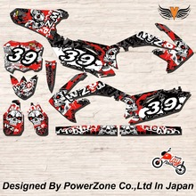 CRF XR CRM 125 250 450 650 Team Graphics Backgrounds Decals Stickers Ghost Motor cross Motorcycle Dirt Bike MX Racing Parts - PowerZone Co.,Ltd store