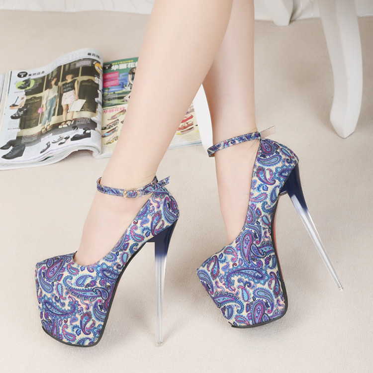 2015 spring tiangao 19cm women's ultra high heels shoes red bottom high-heeled sole pumps plus size stiletto platform - Hangzhou Jasmine, Ltd store