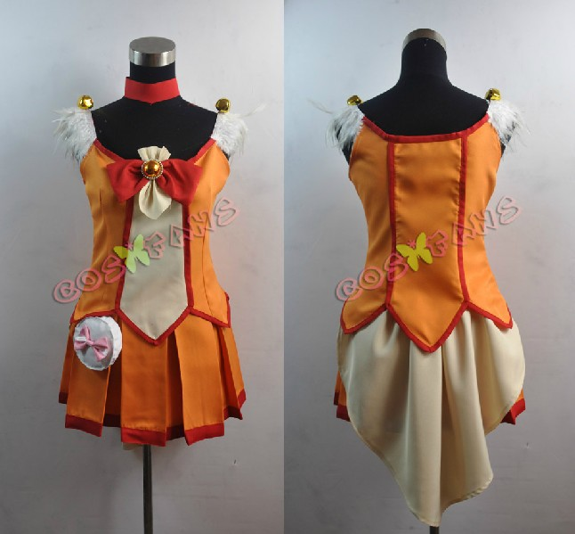 Free shipping Custom Cheap Orange Cure Sunny Cosplay Costume from Smile PreCureОдежда и ак�е��уары<br><br><br>Aliexpress