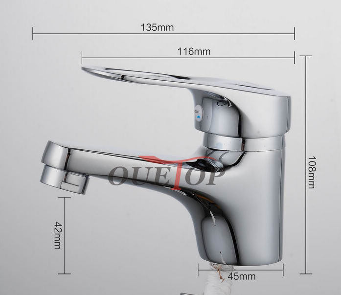 Free Shipping Classic mini Stylish elegant Bathroom Basin Faucet Brass Vessel Sink Water Tap Mixer Chrome Finish Sink Tap Cheap