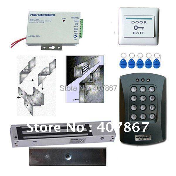 RFID/EM Access Control+600Lbs Magnectic Lock Kit Keypad+600lbs lock kit(China (Mainland))