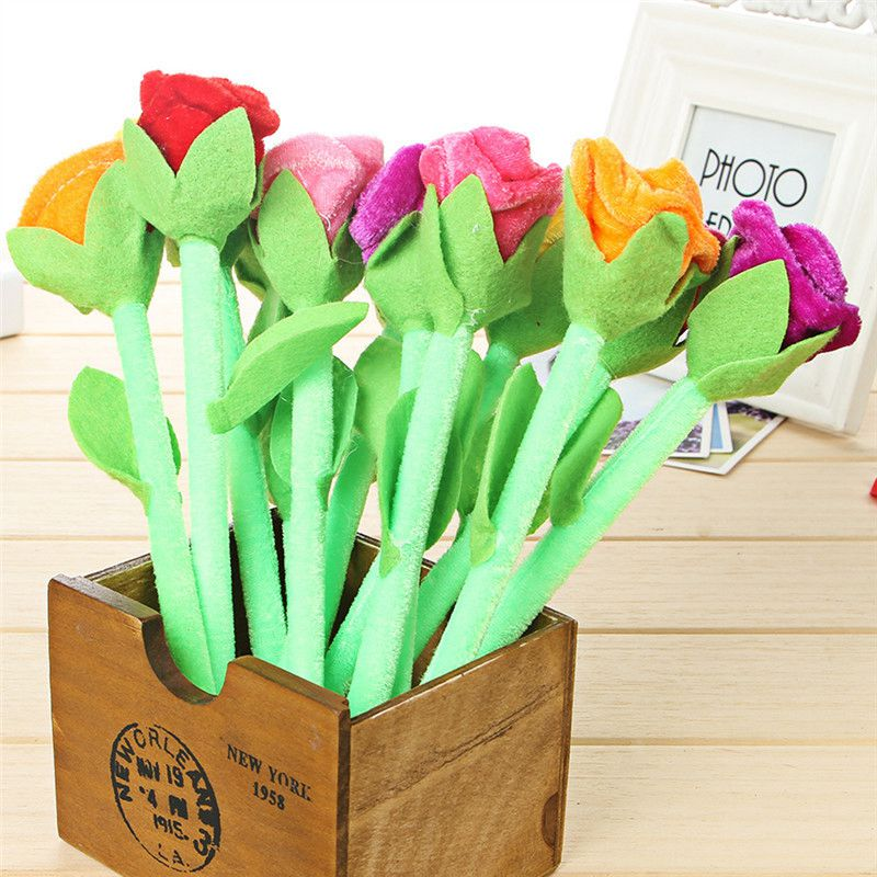 12pcs/lot Gift Ballpoint Pens Cartoon Flowers Shape Ballpen Lovers For School Stationery Items Office Supplies High Quality Pens(China (Mainland))