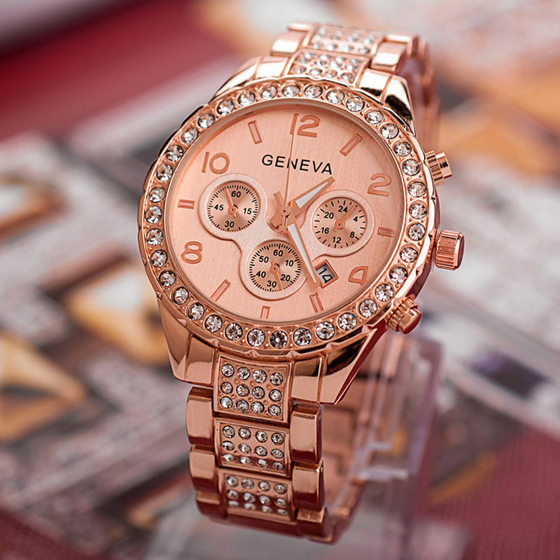 2016 Geneva New Luxury Brand Carbide Watches Women Business Crystal Dress Quartz Men Watch Clock Wristwatches Relojes Mujer<br><br>Aliexpress