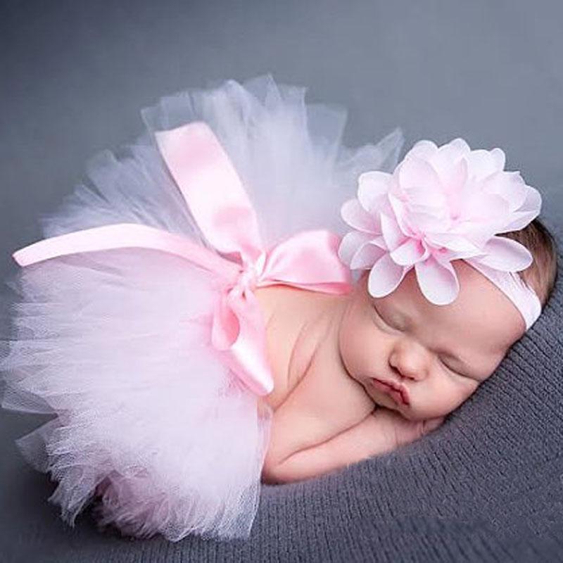 2016 Baby Flower Tutu Skirt Infant Girls Summer Tutu with Matching Headband Newborn Baby Photography Props Tutu Girl Shower Gift(China (Mainland))