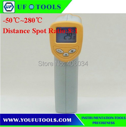 UF-8280 Hand-held Portable Digital Low Temperature Infrared /Mini Infrared Thermometer -50~280 degree <br><br>Aliexpress