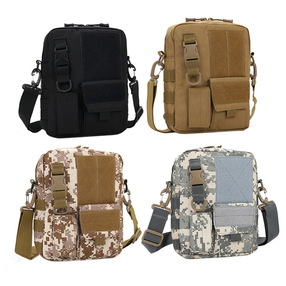 Army Multi-function Waterproof Tablet PC Tactical Nylon Pack Bag Military Molle Shoulder Bag Men's Messenger Bag(China (Mainland))