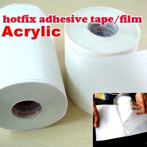 10M length/Lot ,32CM wide Hot fix paper & tape adhesive iron on heat transfer film super for HotFix rhinestones DIY tools Y2644(China (Mainland))