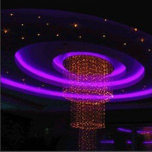 New 8 Colors Changing Optical Fiber Chandelier,project lighting,YSL-FC0003,Red Yellow Blue Green