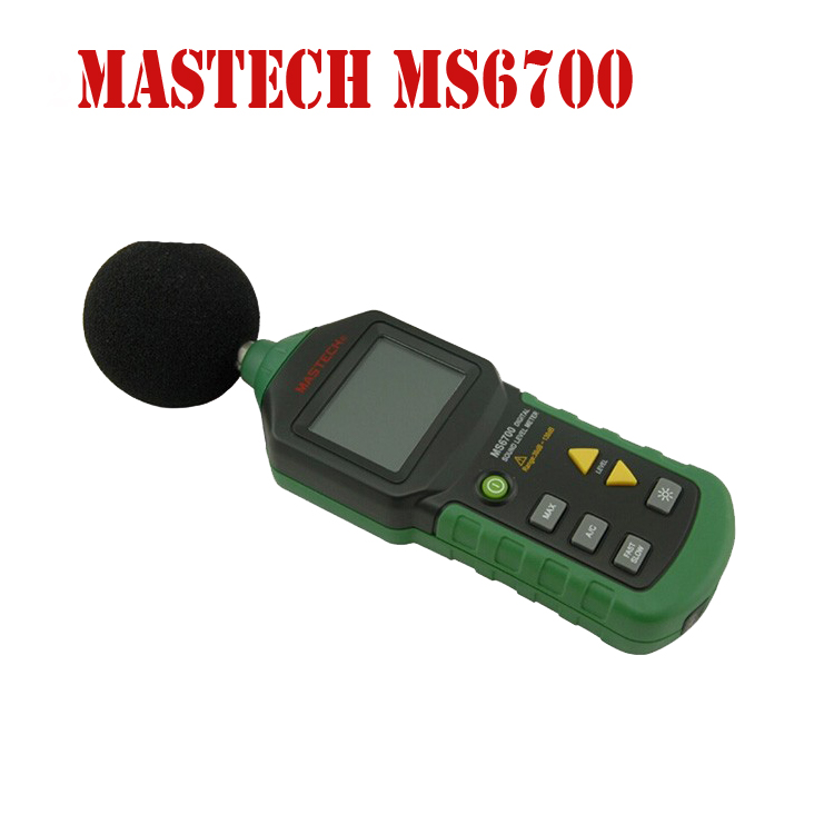 Free Shipping MASTECH MS6700 Digital Sound Level Meter 30 DB - 130 DB DB Meter LCD Display WIth Clock and Calendar Function