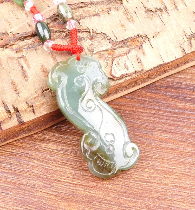 Long Yi bless you and Tian Yu all the best jade jewelry pendant pendant mascot 8000038