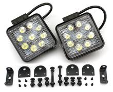 2PCS 27W FLOODBEAM LED WORK OFFROADS LAMP LIGHT TRUCK BOAT 12V 24V 4WD 4x4(China (Mainland))