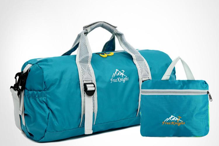 2016 Hot Sale Outdoor Gym Bag Fold Mesh Fabric Travel Bag Lightweight Waterproof Nylon Barrel Shoulder  Sports Handbag<br><br>Aliexpress