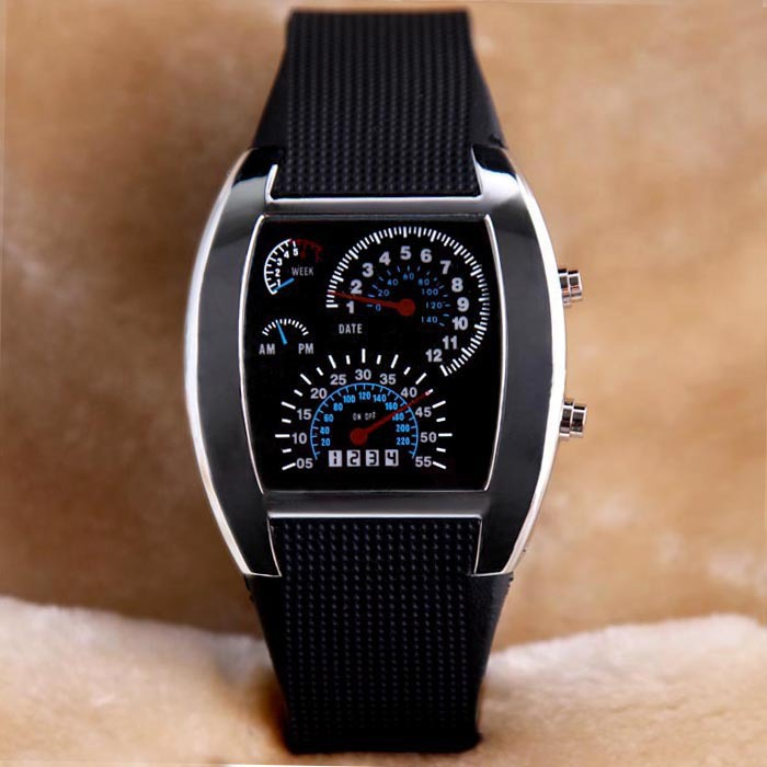 Men Women Digital LED Display Military Watches Fashion Blue Back Light Silicone Band Outdoor Sports Wirstwatches Top Brand(China (Mainland))