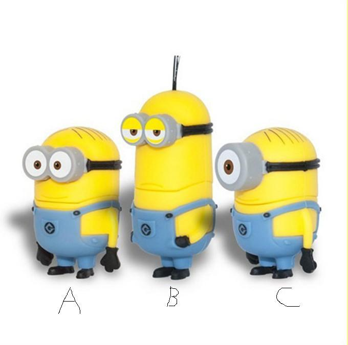 4GB 8GB 16GB 32GB 64GB Cute Cartoon Despicable Yellow People USB 2.0 Flash Pen Drive Disk Memory Gift - New Swell store