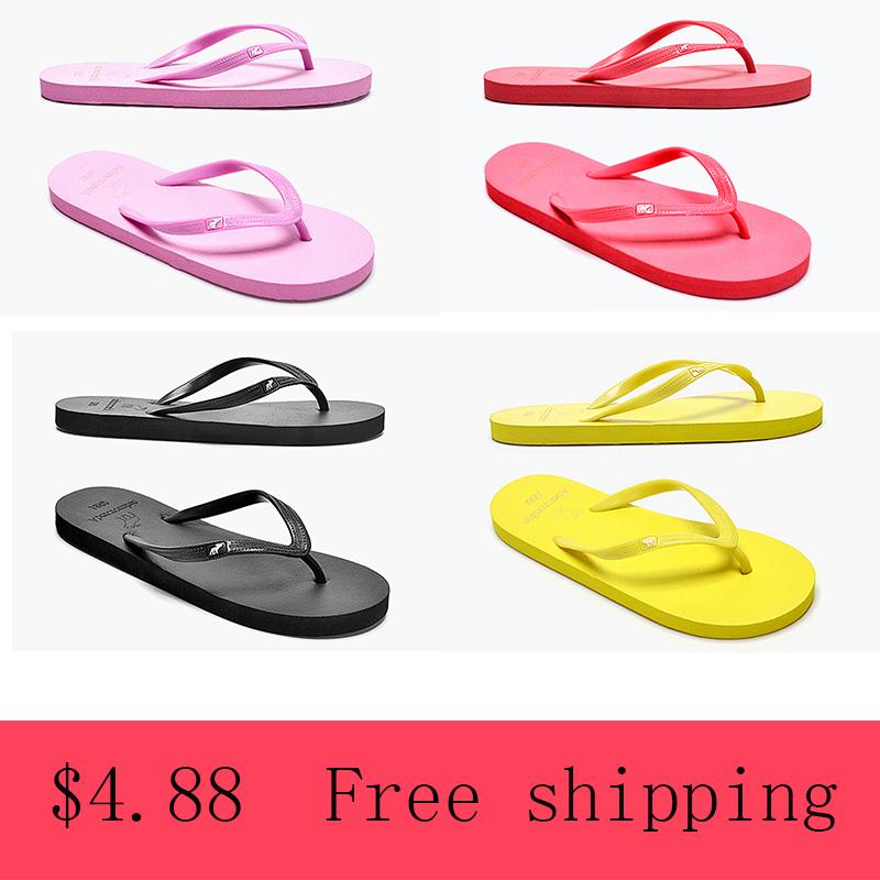 product Plain Supreme Sandals Shoes Woman Flip Flop Womens Sandal Summer 2015 Platform Jelly Flip-flops PU PVC Fashion Zuecos Goma