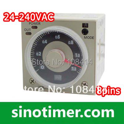 24-240VAC/DC 1.2 s to 300h Omron Timer Delay Relay H3CR-A8 8Pins&Socket(China (Mainland))